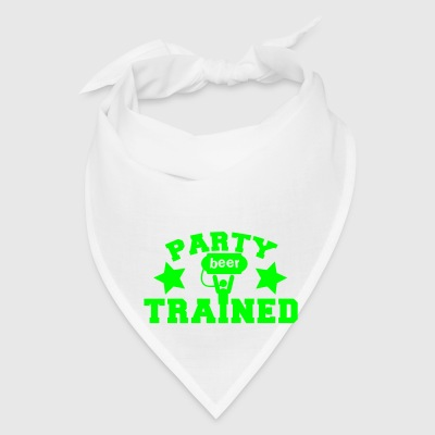 PARTY TRAINED with man and a beer keg  Gift - Bandana