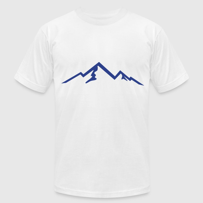 Mountain, Mountains, Hiking T-Shirts - Men's T-Shirt by American Apparel