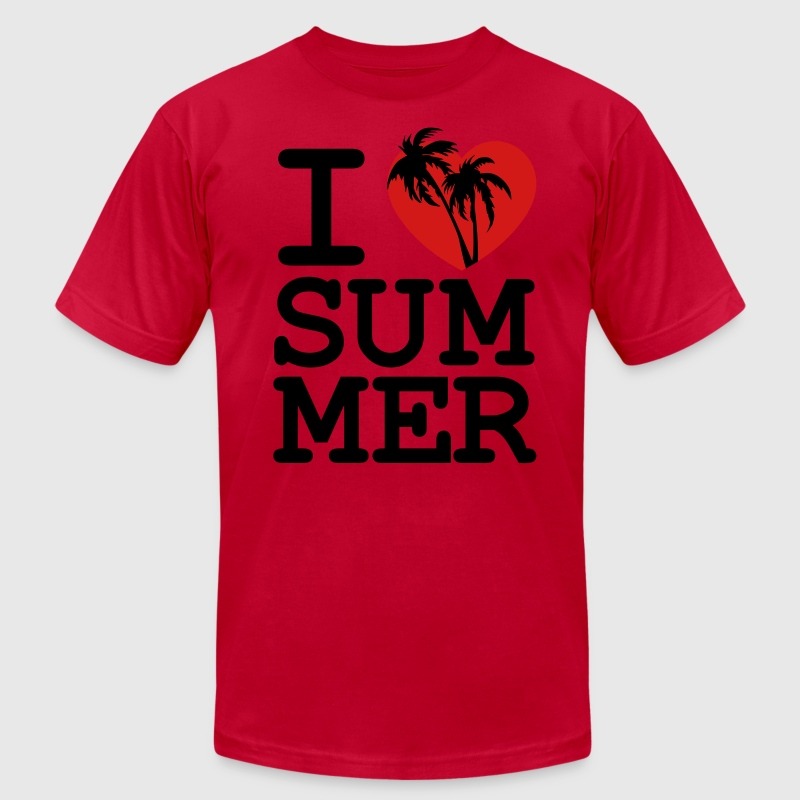 I love Summer T-Shirts - Men's T-Shirt by American Apparel