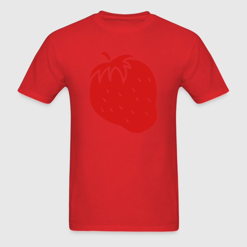 Single color STRAWBERRY fruit cool T-Shirts - Men's T-Shirt