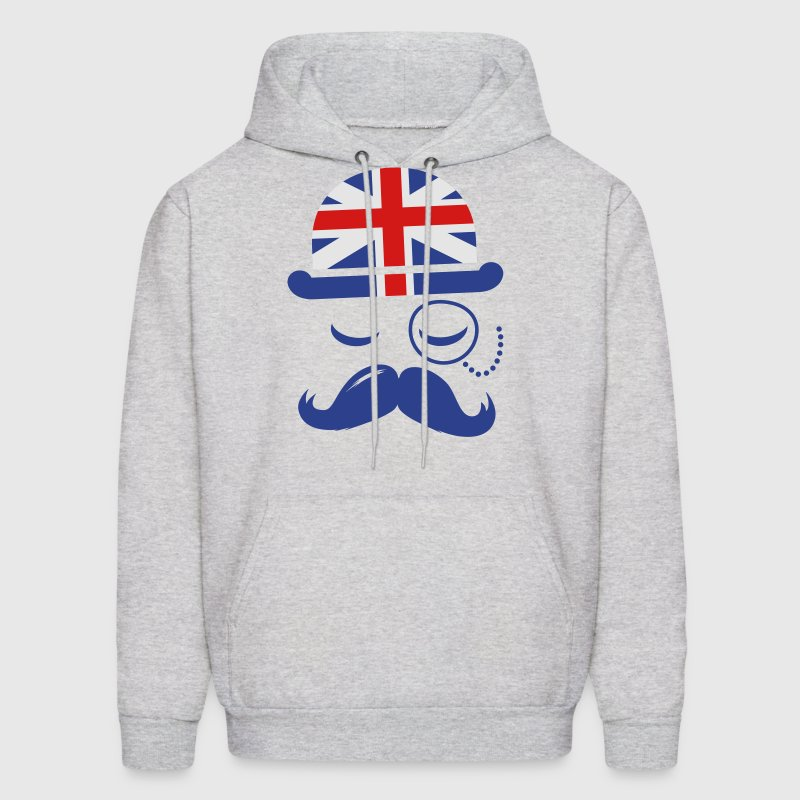 Vintage English Gentleman Sir Boss with Moustache Hoodies - Men's Hoodie