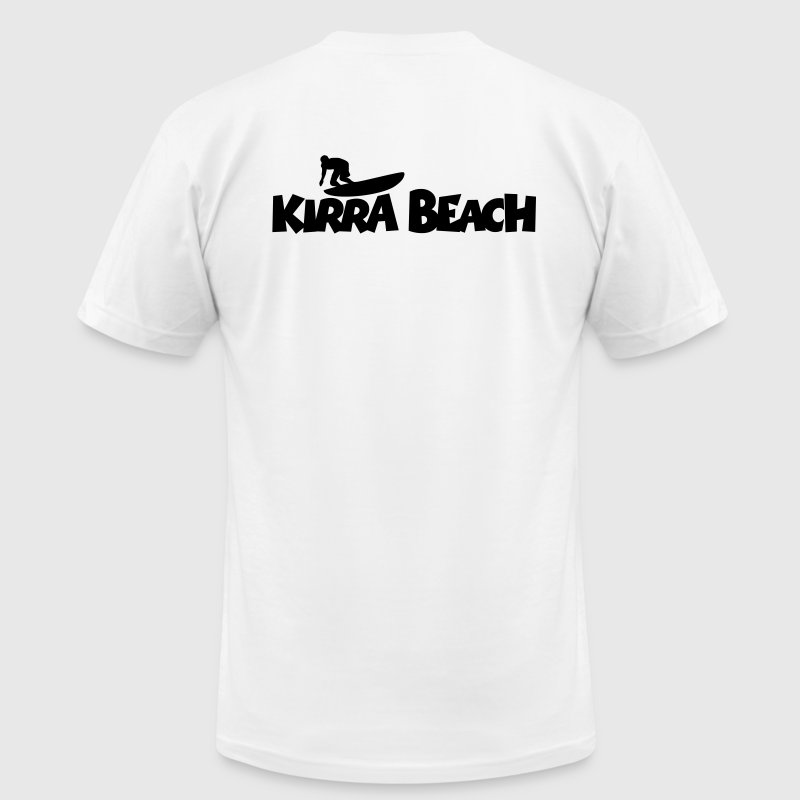 Kirra Beach Surf T-Shirt (Back) - Men's Fine Jersey T-Shirt