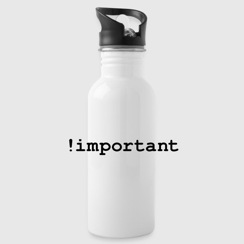 CSS Important Declaration - Water Bottle