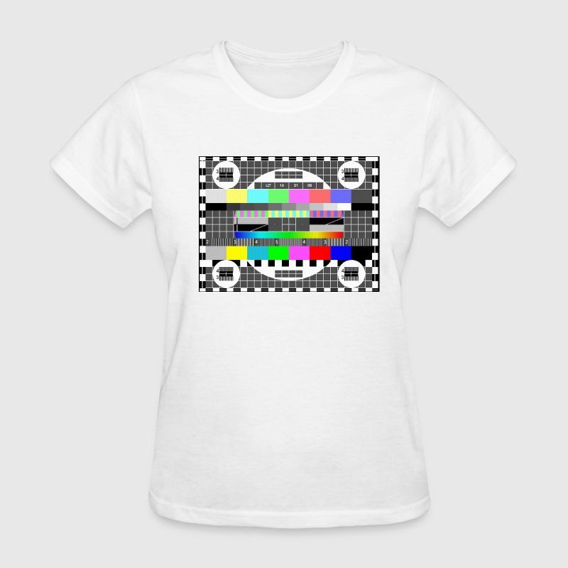 tv test signal pattern tee shirt t-shirt - Women's T-Shirt