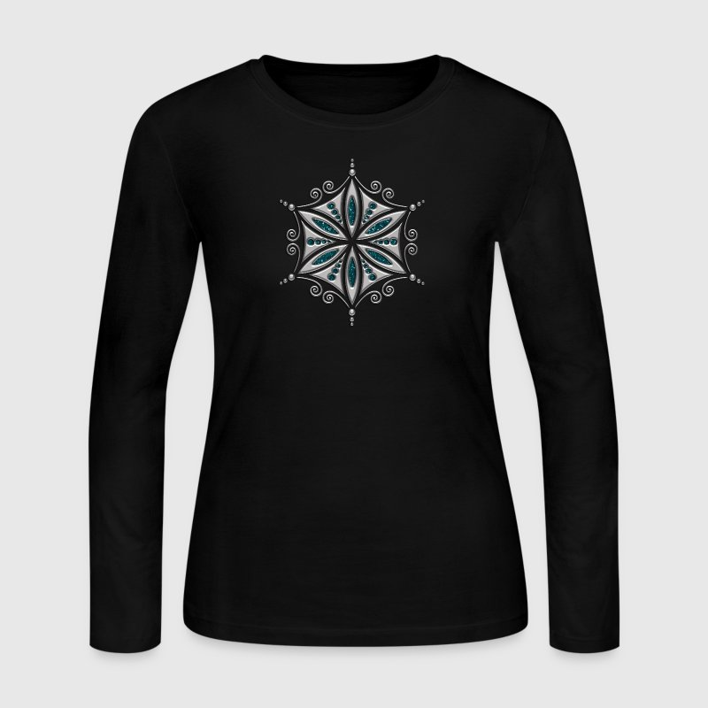 Flower of Aphrodite, 2c, Symbol of  love, beauty and transformation, Power Symbol, Talisman Long Sleeve Shirts - Women's Long Sleeve Jersey T-Shirt