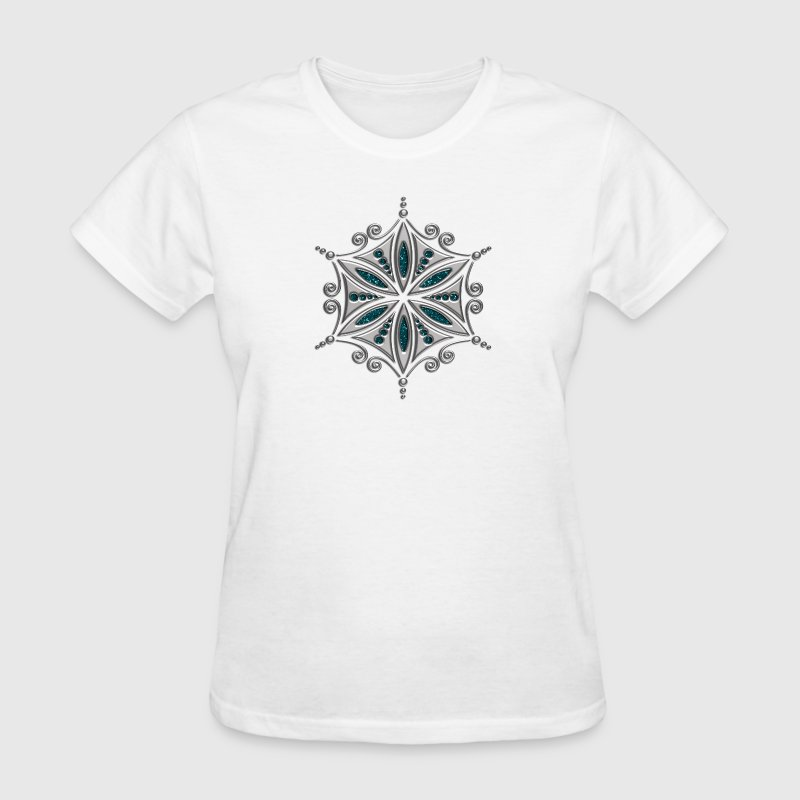 Flower of Aphrodite, 2c, Symbol of  love, beauty and transformation, Power Symbol, Talisman Women's T-Shirts - Women's T-Shirt