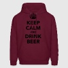 keep calm and drink beer Hoodies - Men's Hoodie