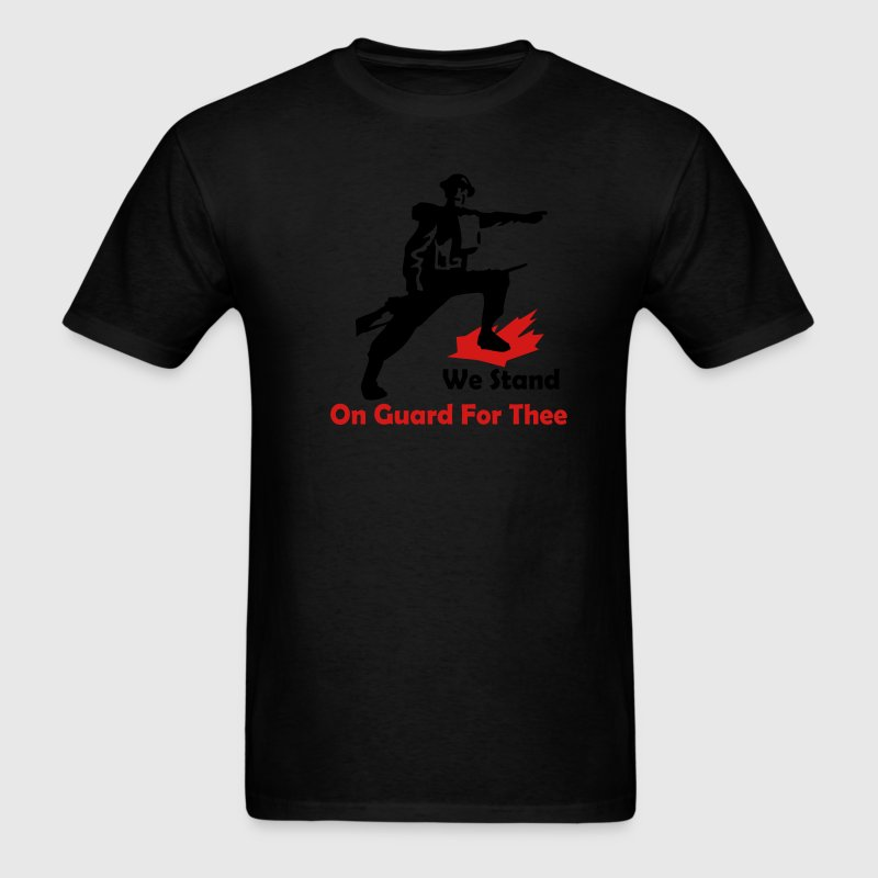 Black We Stand On Guard For Thee Men - Men's T-Shirt