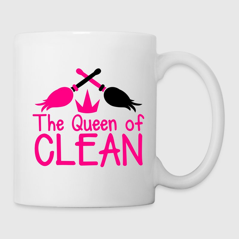THE QUEEN of CLEAN! with feather dusters crown Accessories - Coffee/Tea Mug