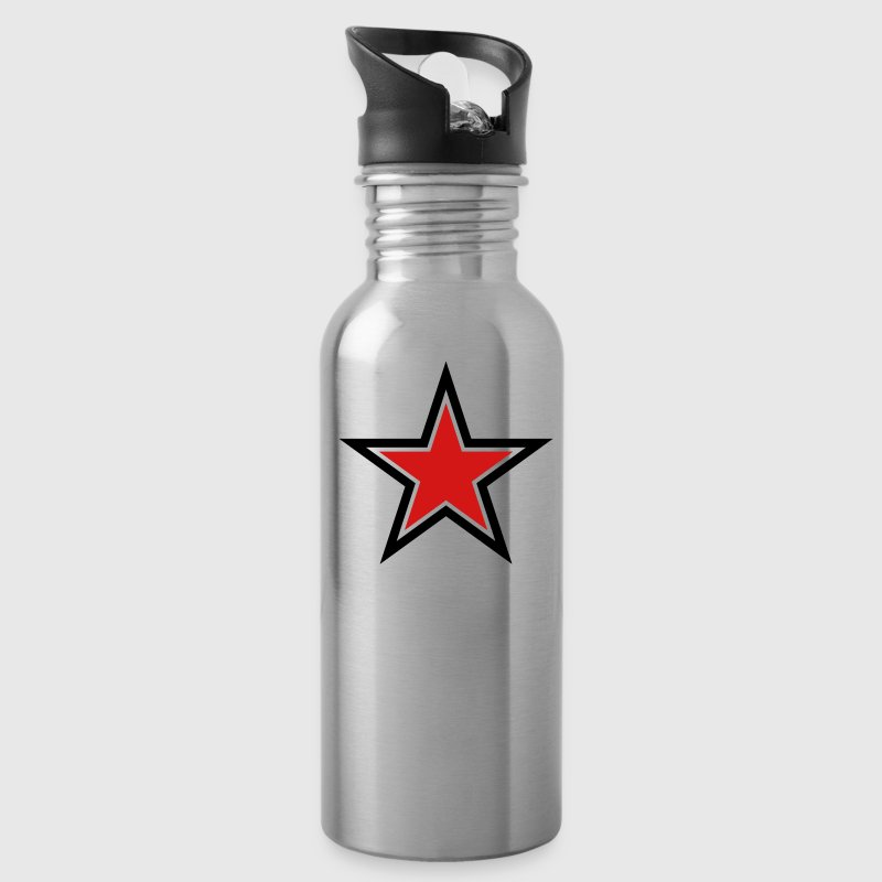 SHARP shape red and BLACK star outlined  Accessories - Water Bottle