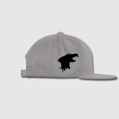 bald EAGLE raptor bird head beak open Accessories - Snap-back Baseball Cap