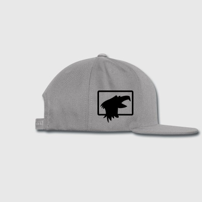 bald eagle head in a square beak open Accessories - Snap-back Baseball Cap