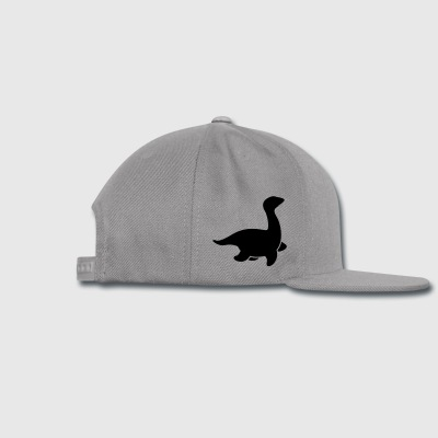 loch ness dinosaur creature monster simple Accessories - Snap-back Baseball Cap