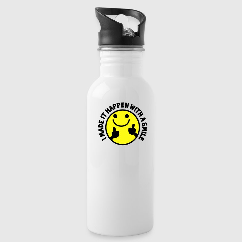 I MADE IT HAPPEN with a SMILE smiley with thumbs up! Accessories - Water Bottle