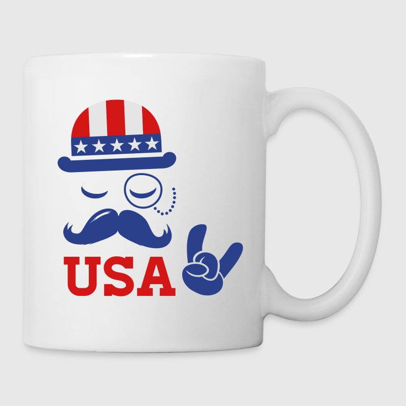 Cool USA American Sir with flag rocks for sports olympics champion and election vote America Gift - Coffee/Tea Mug