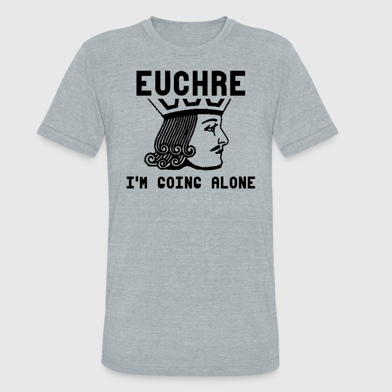 Euchre T-Shirts - Unisex Tri-Blend T-Shirt by American Apparel