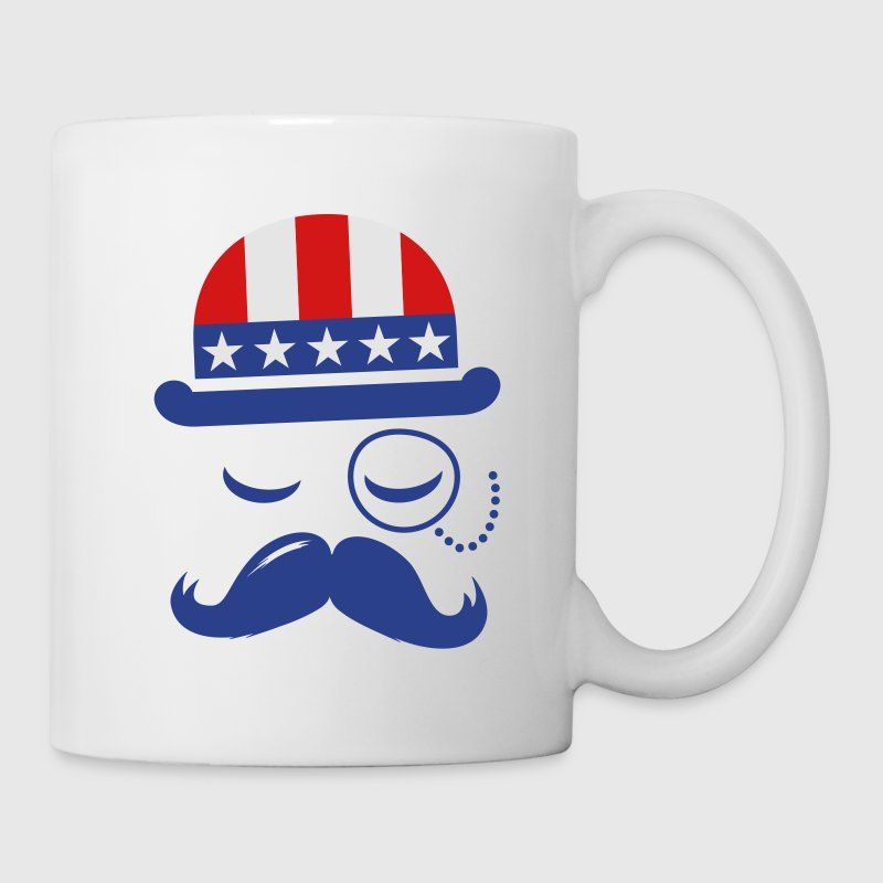 I love American Sir with USA  flag for sports olympics championship and election vote America t-shirts Gift - Coffee/Tea Mug