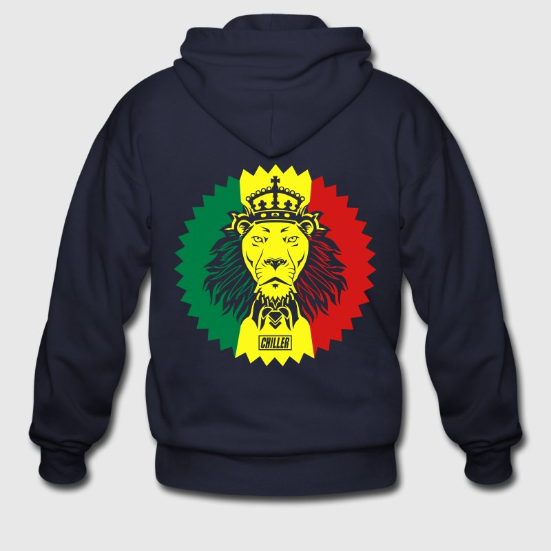 Chiller Rasta Lion Zip Hoodies/Jackets - Men's Zip Hoodie