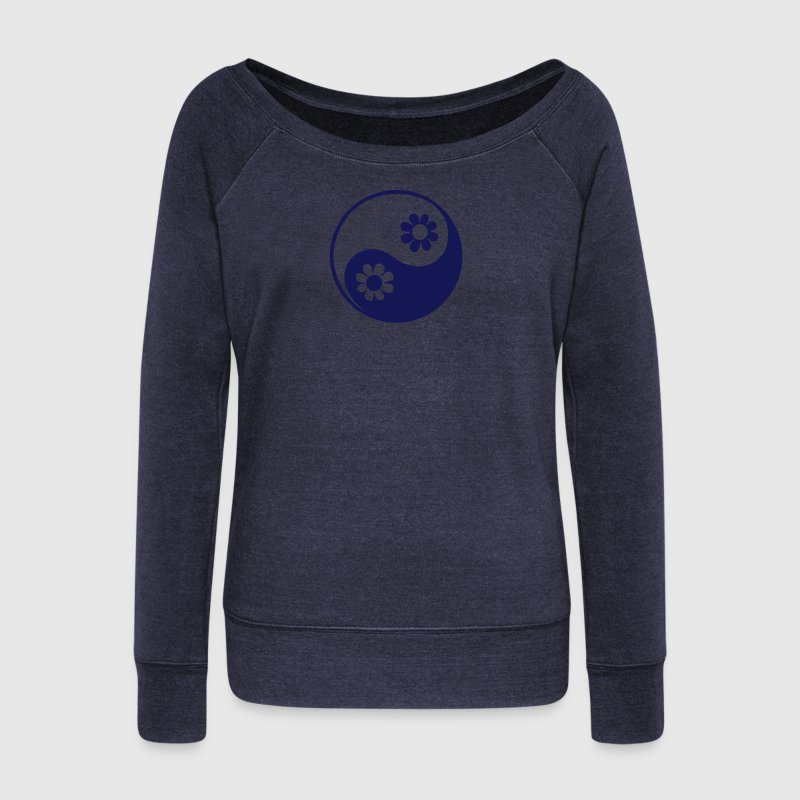 YING YANG, c, Taoist symbol, symbol of perfect balance, ancient chinese symbol /  Long Sleeve Shirts - Women's Wideneck Sweatshirt