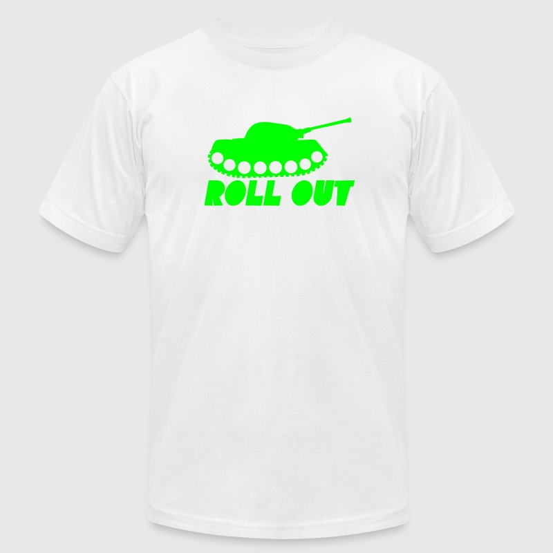Military ROLL out funny tank commander design  T-Shirts - Men's T-Shirt by American Apparel