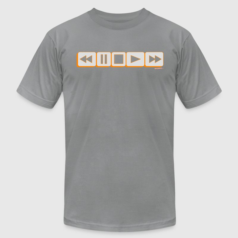 Play Pause Rewind DJ T-Shirts - Men's T-Shirt by American Apparel