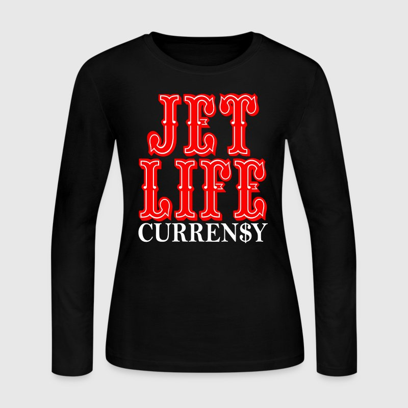 JET LIFE CURRENSY Long Sleeve Shirts - Women's Long Sleeve Jersey T-Shirt