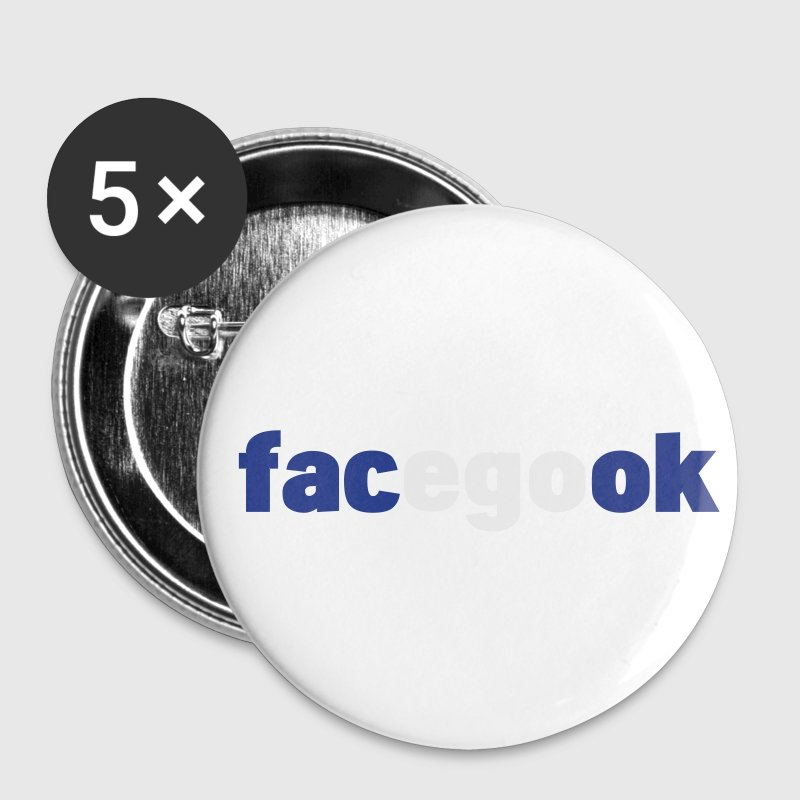 facegook - facebook parody Buttons - Small Buttons