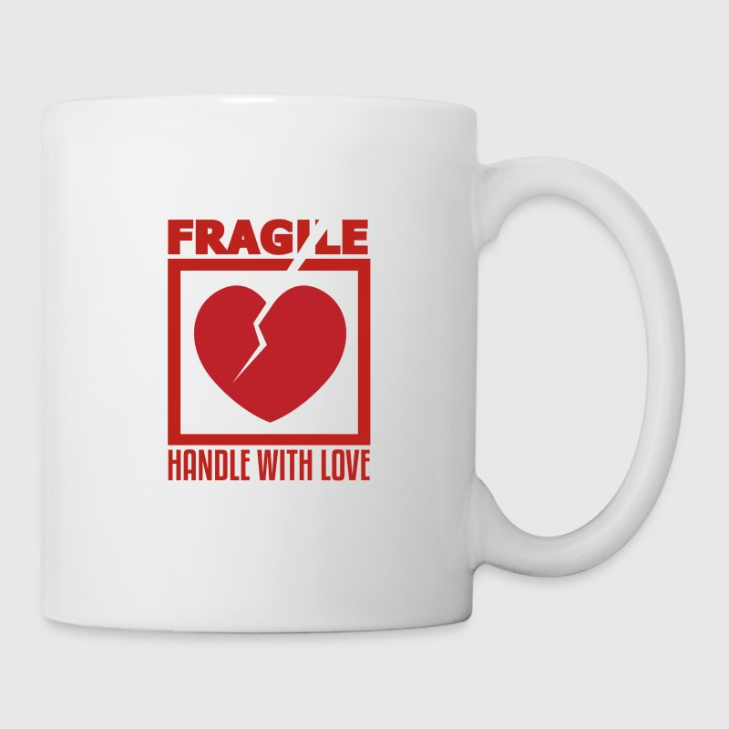 Fragile, Handle With Love, Funny Coffee Mugs Design - Coffee/Tea Mug
