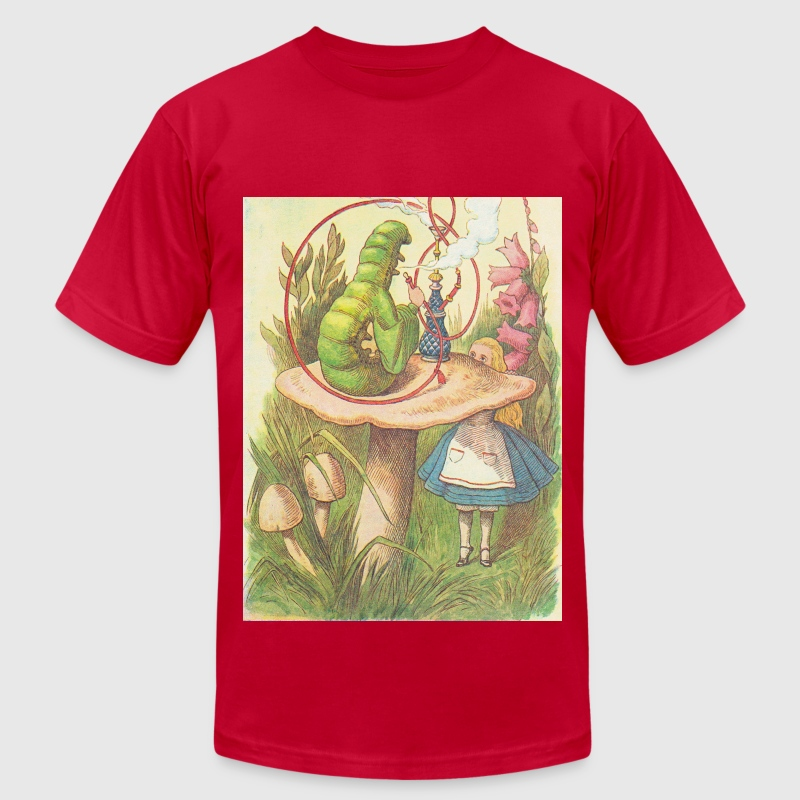 The Hookah Smoking Caterpillar T-Shirts - Men's T-Shirt by American Apparel