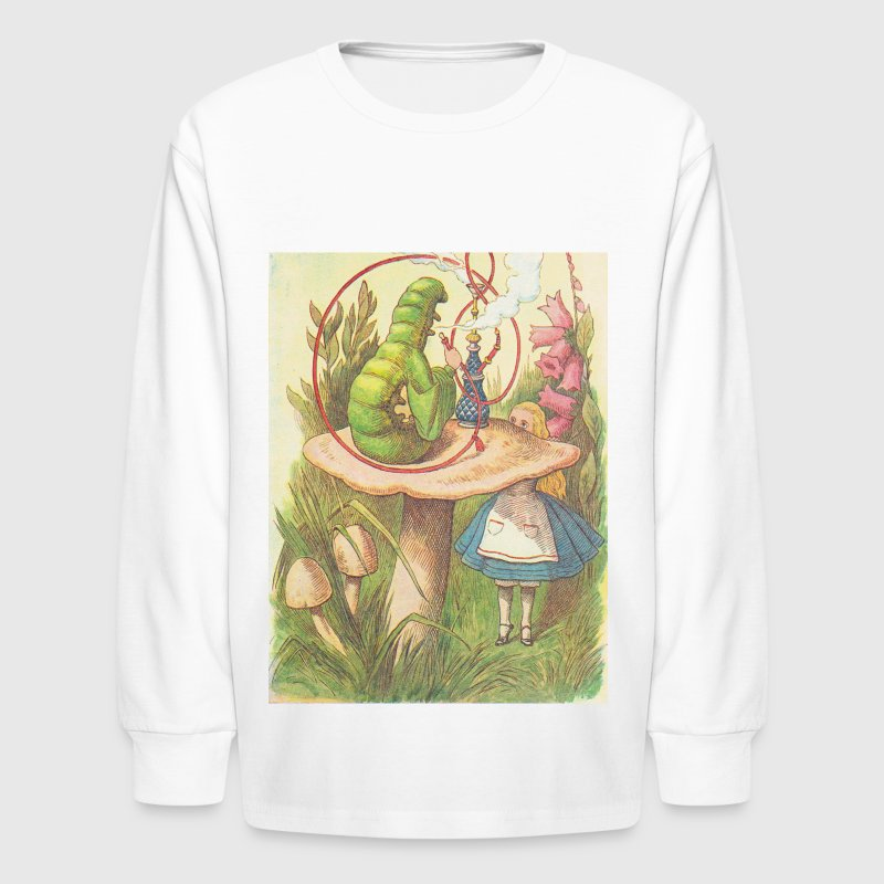 The Hookah Smoking Caterpillar Kids' Shirts - Kids' Long Sleeve T-Shirt