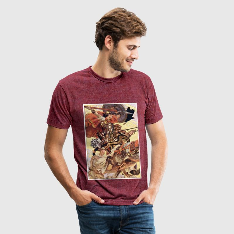Cuchulain in Battle T-Shirts - Unisex Tri-Blend T-Shirt