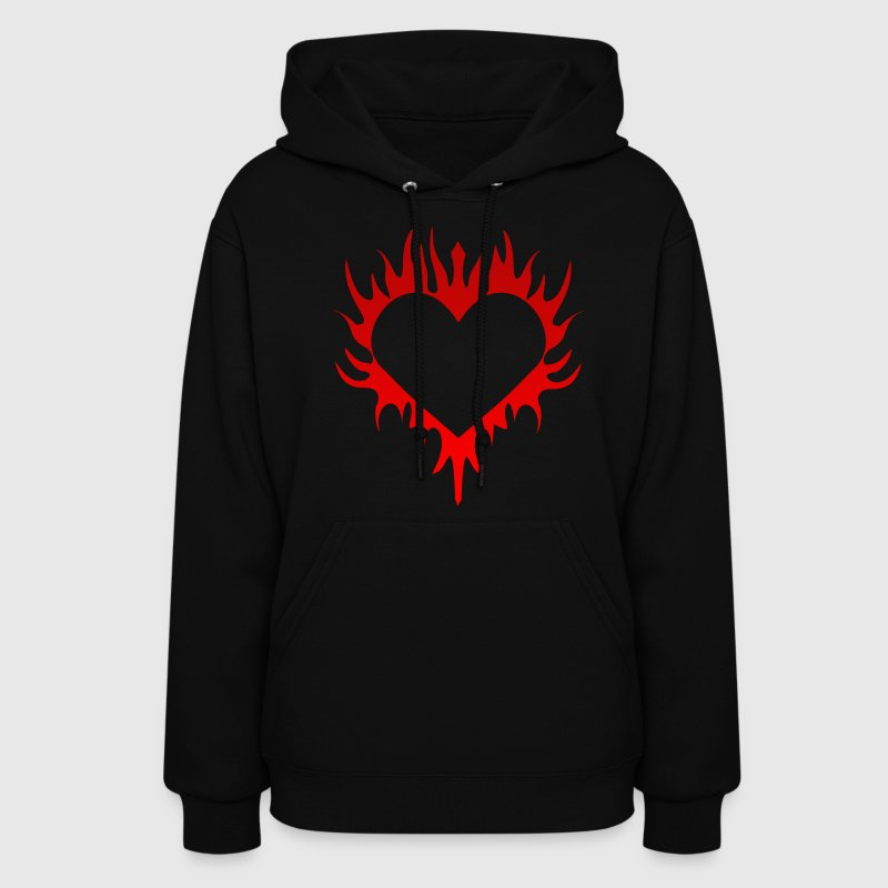 Flaming Heart Hoodies - Women's Hoodie