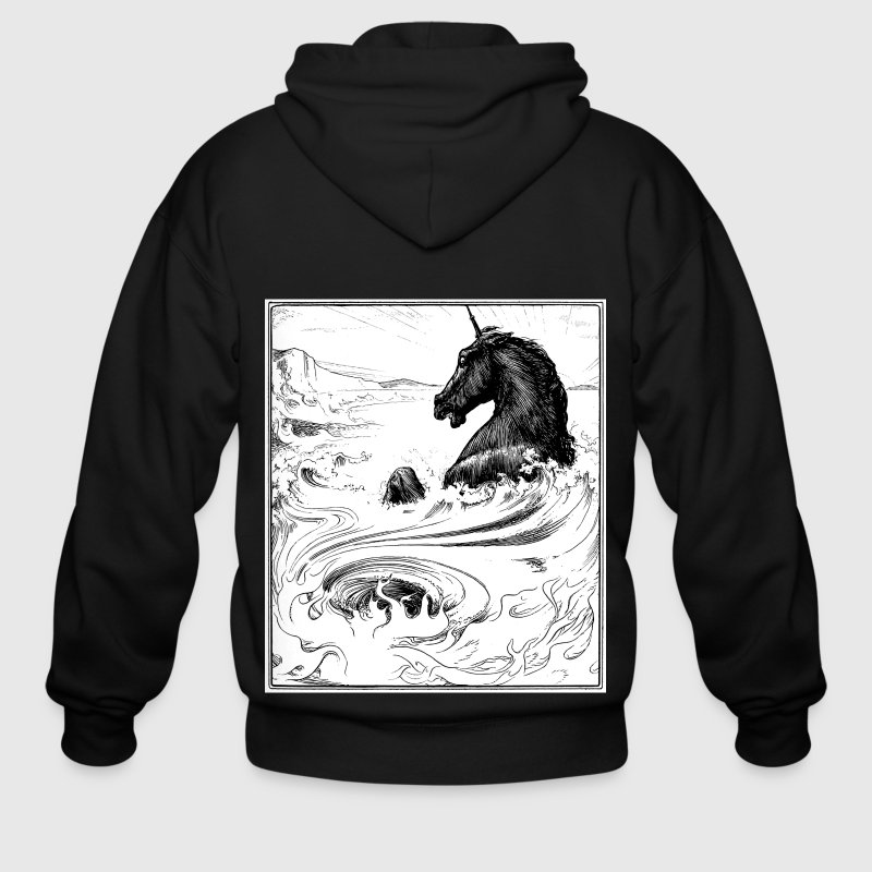 The Black Unicorn Zip Hoodies/Jackets - Men's Zip Hoodie