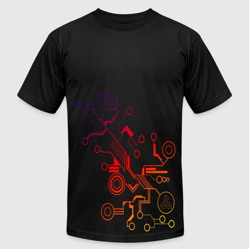 Colorful Circuit Large Print T Shirt Spreadshirt