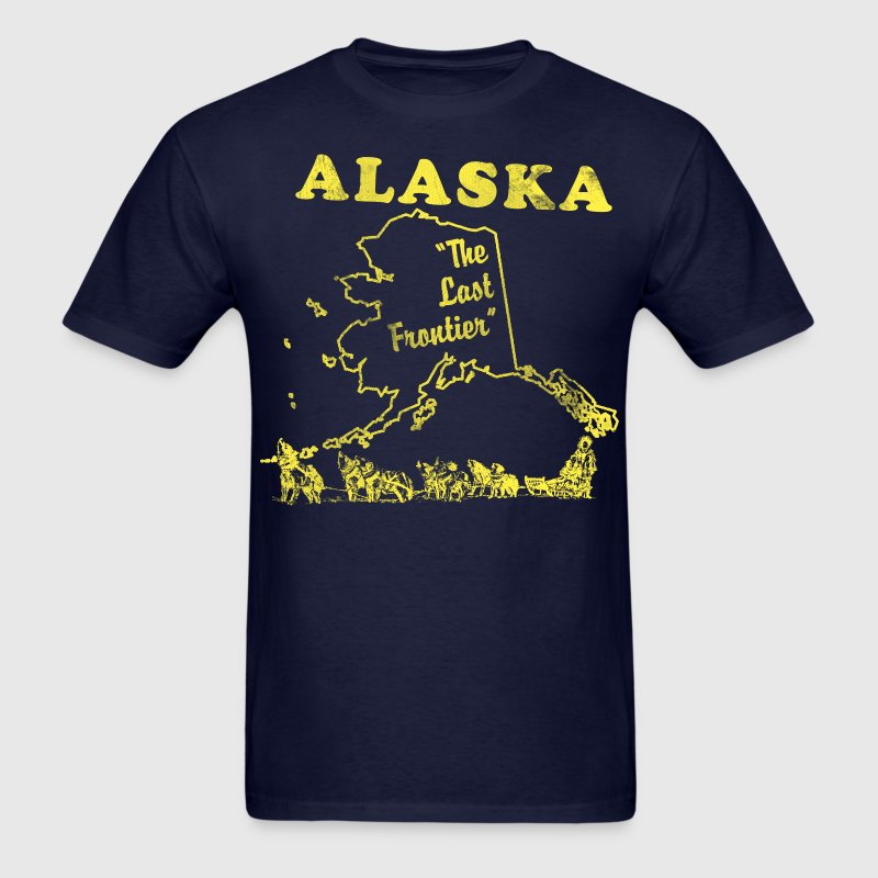 Alaska, the last frontier vintage mens t-shirt - Men's T-Shirt