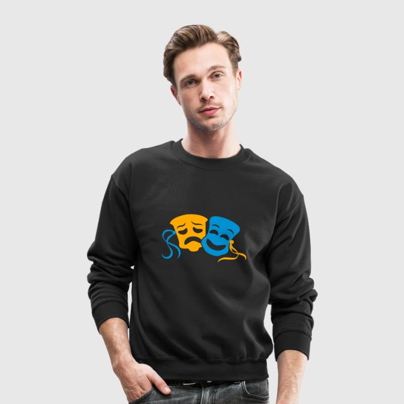 happy sad masks symbol of the theatre acting Long Sleeve Shirts - Crewneck Sweatshirt
