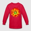 Psychedelic Flower Kids' Shirts - Kids' Long Sleeve T-Shirt