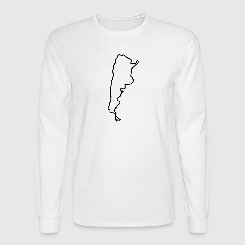 White Argentina Men - Men's Long Sleeve T-Shirt
