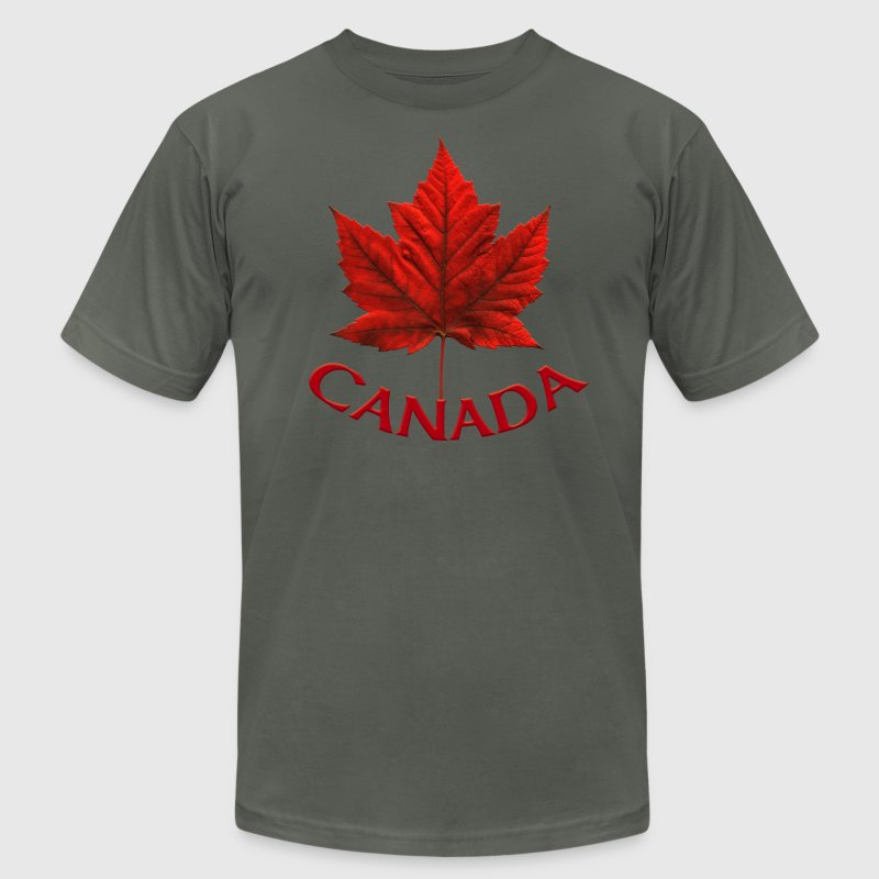 Canada Souvenir Men's Jersey T-shirt AA Maple Leaf Men's Canada Souvenir - Men's T-Shirt by American Apparel