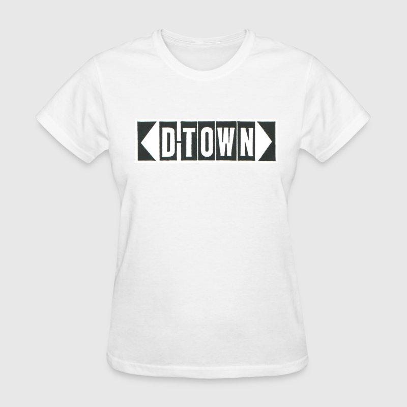 D-Town Records Classic Black Block Logo - Women's T-Shirt