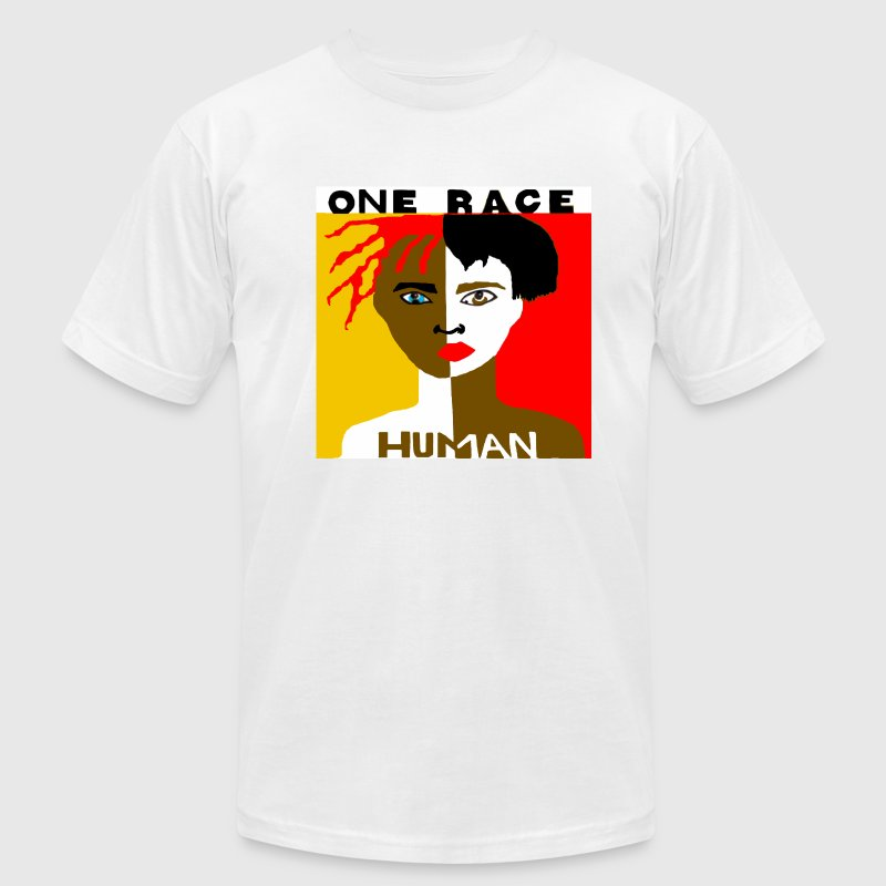 One Race Human Men's T-shirt - Men's T-Shirt by American Apparel