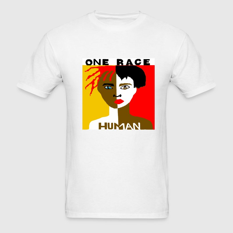 One Race Human Men's T-shirt - Men's T-Shirt