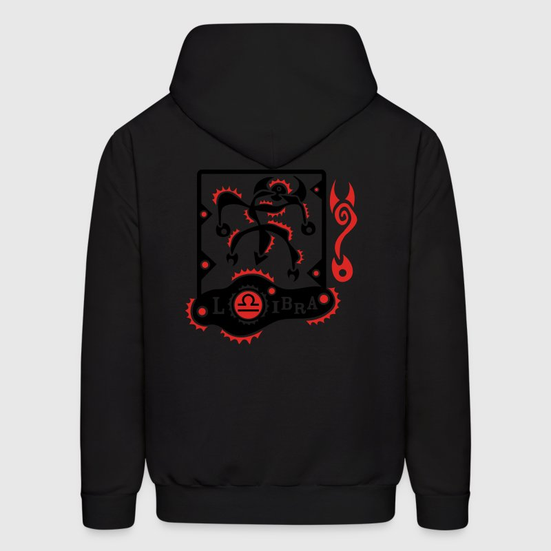 Black Libra-Scale-Zodiac-Sign Sweatshirt - Men's Hoodie