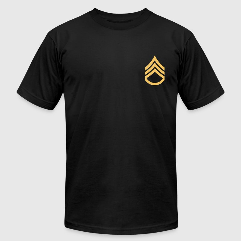 Black Staff Sergeant Men - Men's T-Shirt by American Apparel