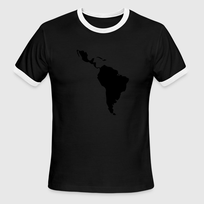 Black/white Latin America - South America Men - Men's Ringer T-Shirt