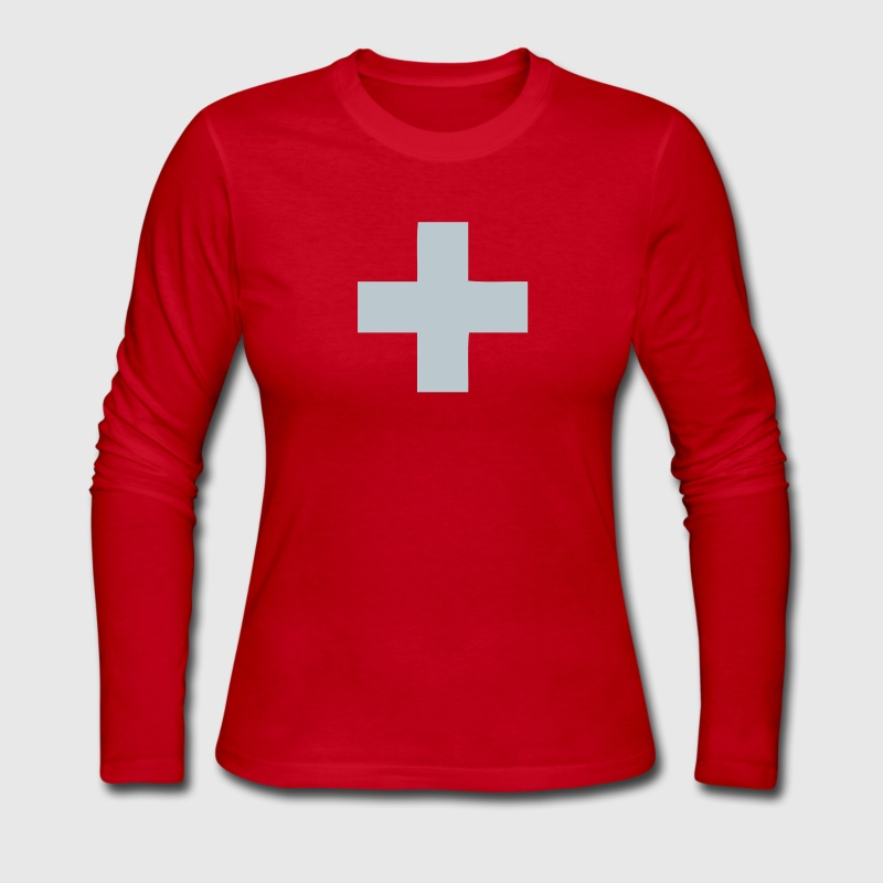 Red Switzerland - Swiss Cross Women - Women's Long Sleeve Jersey T-Shirt