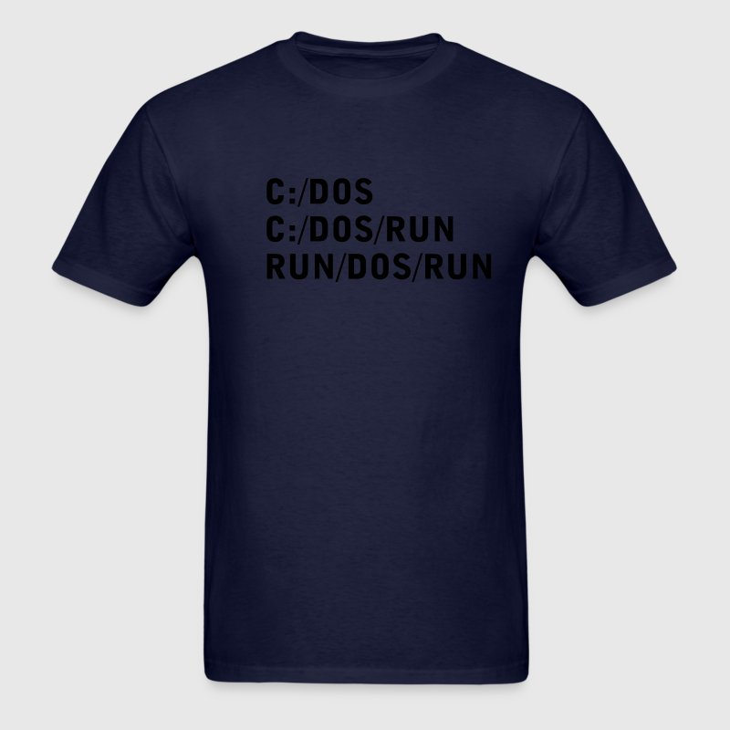 Navy C DOS RUN Men - Men's T-Shirt
