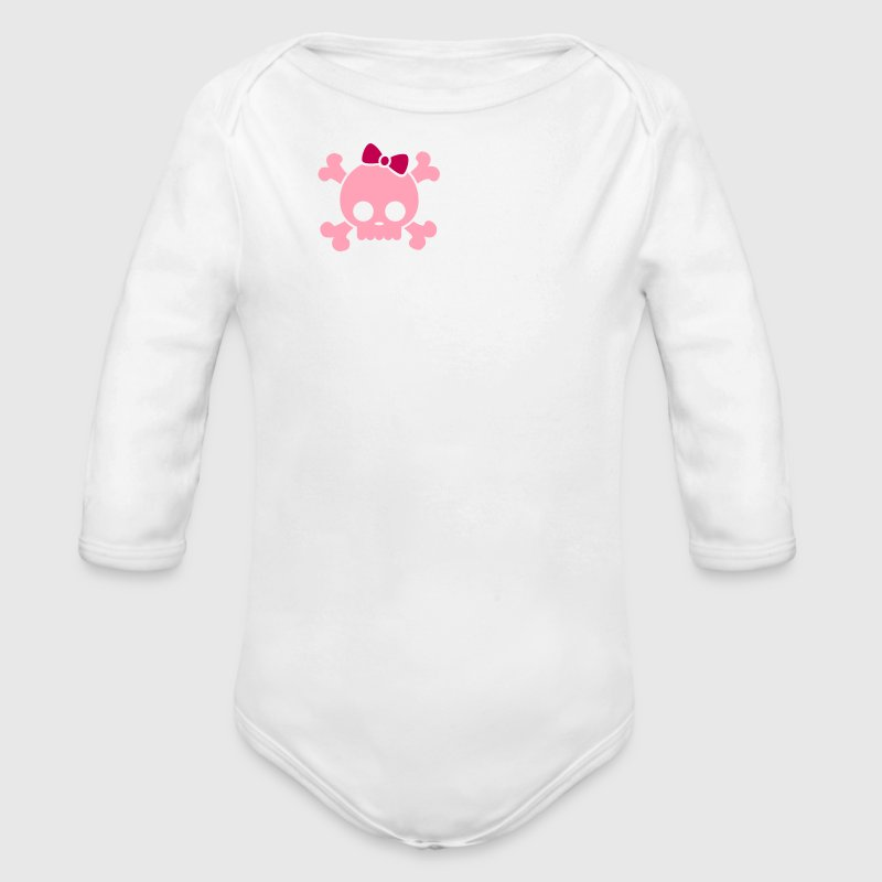 Cute Girl Skull - Long Sleeve Baby Bodysuit