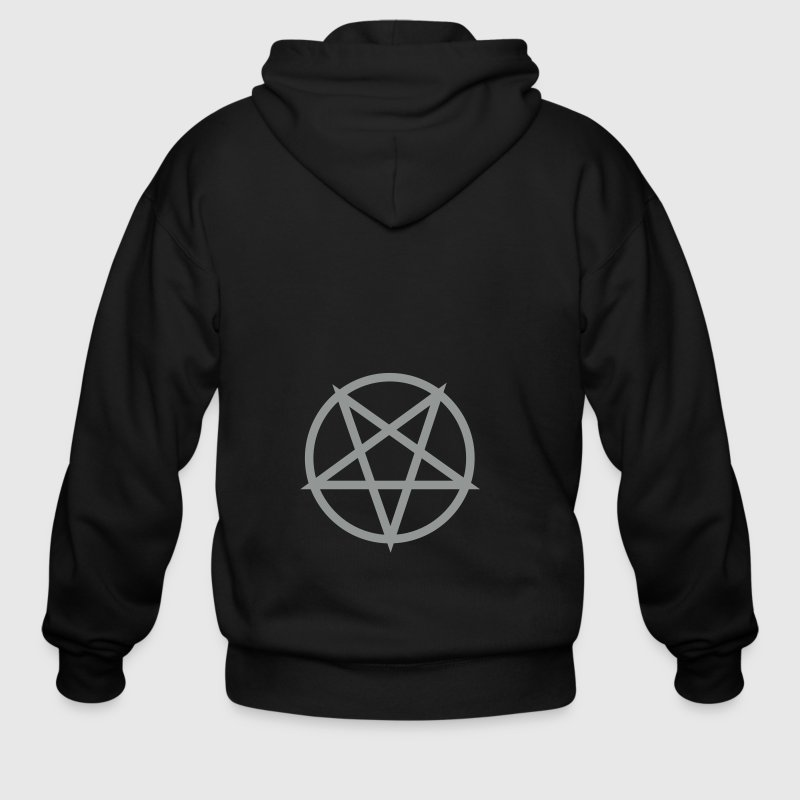 Black pentagram Jacket - Men's Zip Hoodie