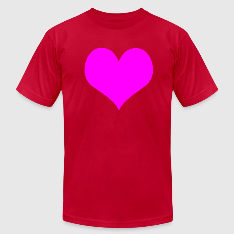 Red Heart Men - Men's T-Shirt by American Apparel